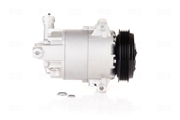 Kompressor OPEL Zafira B Van (A05) 2008 - NISSENS 890262 (Riemenscheiben-Ø: 120mm, Anzahl der Rillen: 5)