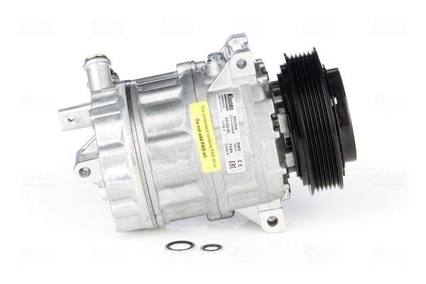 NISSENS: Original Kompressor 890354 (Riemenscheiben-Ø: 120mm, Anzahl der Rillen: 6)