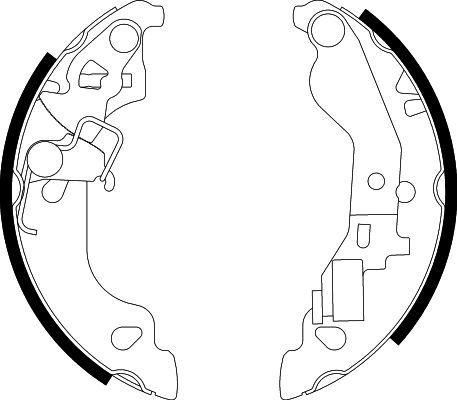 Original FIAT Bremsbackensatz für Trommelbremse 8DB 355 002-571