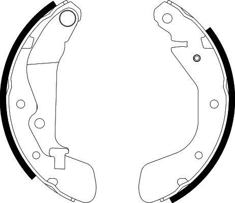 H9715 HELLA Ø: 200mm, mit Handbremshebel Breite: 36mm Bremsbackensatz 8DB 355 002-791 günstig kaufen