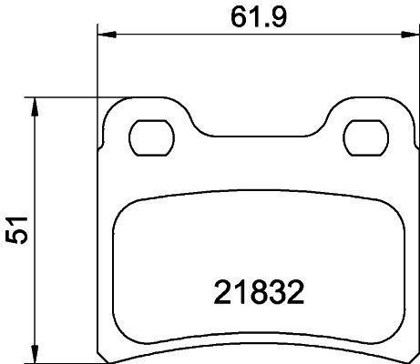 Achetez Freins HELLA 8DB 355 008-151 (Hauteur: 51mm, Largeur: 61,7mm, Épaisseur: 15mm) à un rapport qualité-prix exceptionnel