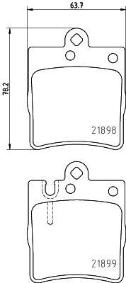 7784D873 HELLA für Verschleißwarnanzeiger vorbereitet Höhe: 78,2mm, Breite: 63,7mm, Dicke/Stärke: 15,7mm Bremsbelagsatz, Scheibenbremse 8DB 355 008-451 günstig kaufen