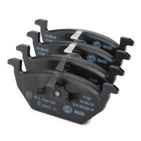 8DB355008591 Bremsbelagsatz, Scheibenbremse HELLA 8760D1107 - Große Auswahl - stark reduziert