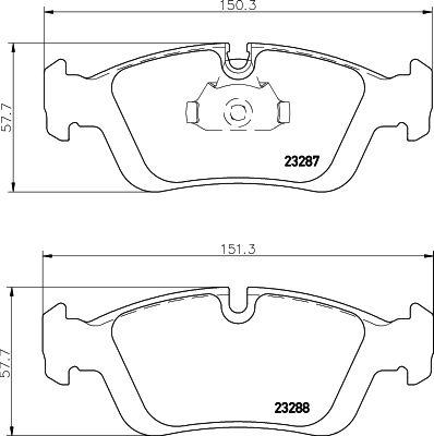 Original SMART Bremsbelagsatz 8DB 355 008-741