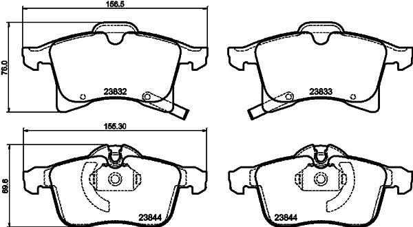 Disk brake pads 8DB 355 009-221 HELLA — only new parts