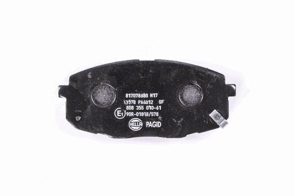 8DB355010611 Bremsbeläge HELLA 23987 - Große Auswahl - stark reduziert
