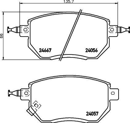 Bremsbelagsatz HELLA 8DB 355 011-101