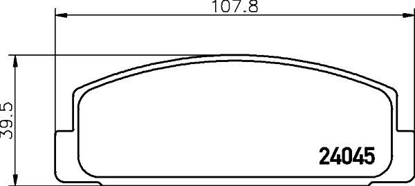 MAZDA RX-7 1993 Tuning - Original HELLA 8DB 355 011-131 Höhe: 39,5mm, Breite: 107,8mm, Dicke/Stärke: 13mm