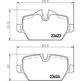 8345D1226 HELLA für Verschleißwarnanzeiger vorbereitet, mit Bremssattelschrauben, mit Zubehör Höhe 1: 51,9mm, Höhe 2: 45mm, Breite: 95,4mm, Dicke/Stärke: 17,4mm Bremsbelagsatz, Scheibenbremse 8DB 355 011-271 günstig kaufen