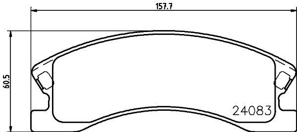 7846D945 HELLA mit akustischer Verschleißwarnung Höhe: 60,5mm, Breite: 157,7mm, Dicke/Stärke: 19,2mm Bremsbelagsatz, Scheibenbremse 8DB 355 011-541 günstig kaufen