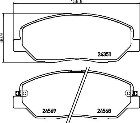 Original KIA Bremsbelagsatz 8DB 355 012-371