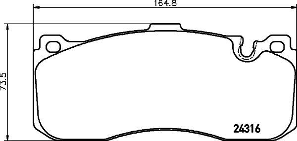 Original MINI Bremsbelagsatz 8DB 355 014-041