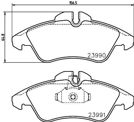 8DB 355 014-481 HELLA Bremsbelagsatz, Scheibenbremse billiger online kaufen