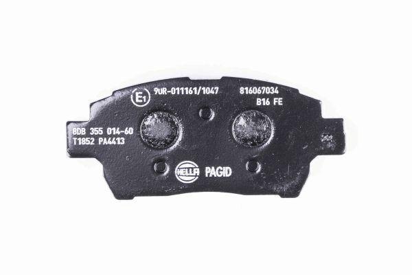 8DB355014601 Bremsbeläge HELLA 24780 - Große Auswahl - stark reduziert