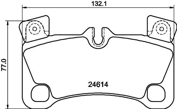 8460D1350 HELLA für Verschleißwarnanzeiger vorbereitet, mit Ausgleichsgewichten Höhe: 81,5mm, Breite: 132,1mm, Dicke/Stärke: 16,6mm Bremsbelagsatz, Scheibenbremse 8DB 355 014-631 günstig kaufen