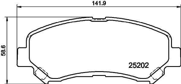 Bremsbelagsatz HELLA 8DB 355 015-911