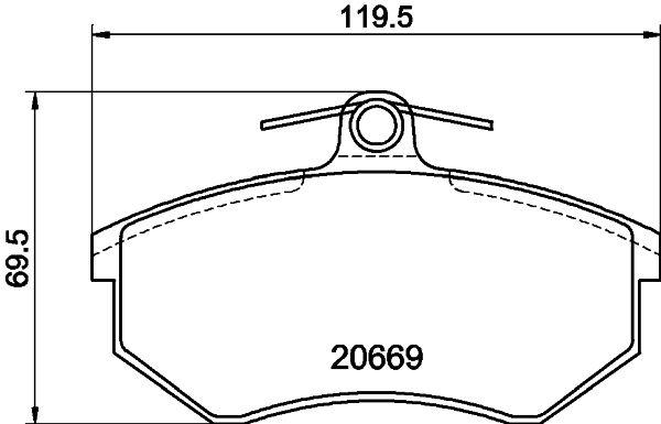 Scheibenbremsbeläge HELLA 8DB 355 017-701