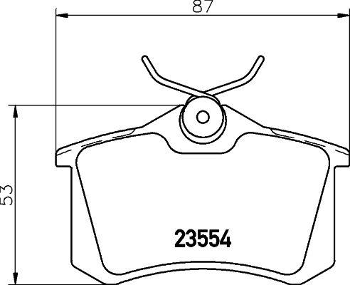 8DB 355 018-111 Bremsbelagsatz HELLA - Markenprodukte billig