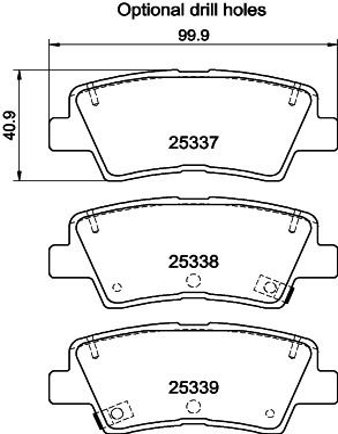 Brake pads 8DB 355 019-981 HELLA — only new parts