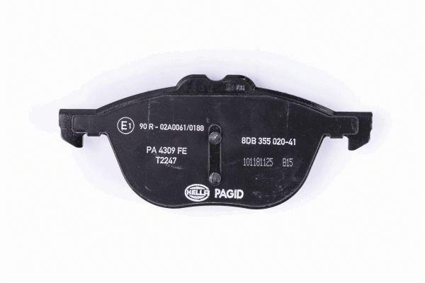 8DB355020411 Bremsbeläge HELLA 9328D2092 - Große Auswahl - stark reduziert