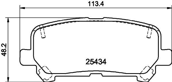 ISUZU MU-X 2014 Kfz-Bremsen - Original HELLA 8DB 355 020-601 Höhe: 48,2mm, Breite: 113,2mm, Dicke/Stärke: 15,2mm
