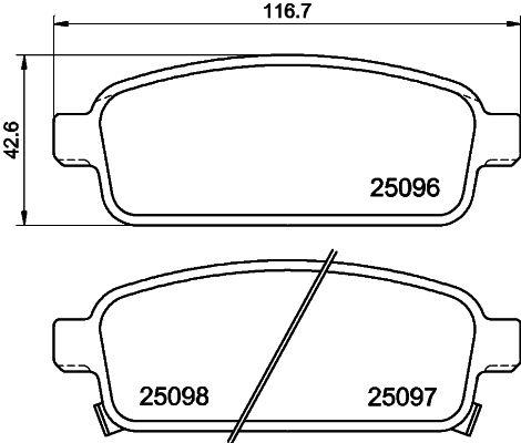 Bremsklötze HELLA 8DB 355 024-861