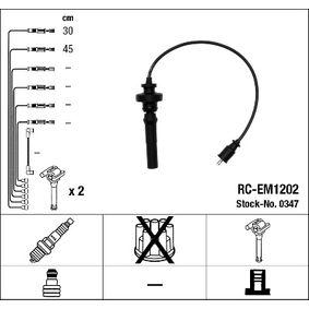 RCEM1202 NGK Anzahl der Leitungen: 2 Zündleitungssatz 0347 günstig kaufen