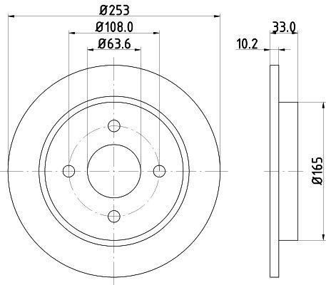 Original FORD Bremsscheibe 8DD 355 105-661