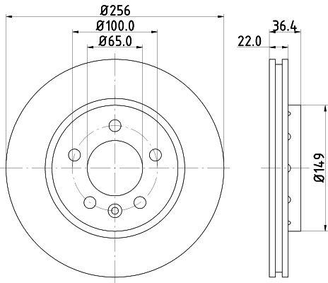 VW Disque de frein d'Origine 8DD 355 106-751