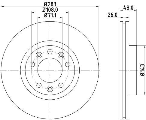 Original OPEL Bremsscheiben 8DD 355 117-341