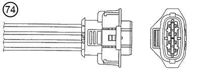 Oxygen sensor 1705 NGK — only new parts