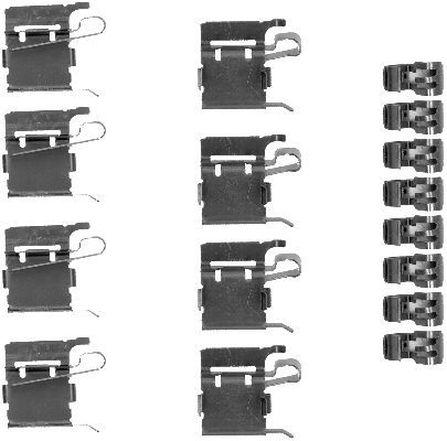 OE Original Zubehörsatz, Scheibenbremsbelag 8DZ 355 203-381 HELLA