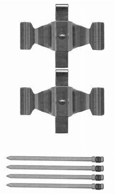 Tillbehörssats, skivbromsbelägg 8DZ 355 204-311 HELLA — bara nya delar