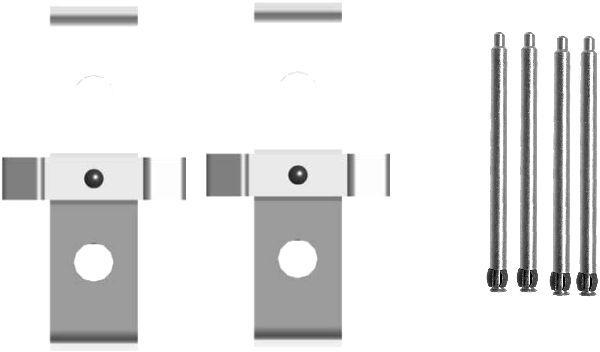 Tillbehörssats, skivbromsbelägg 8DZ 355 205-021 HELLA — bara nya delar