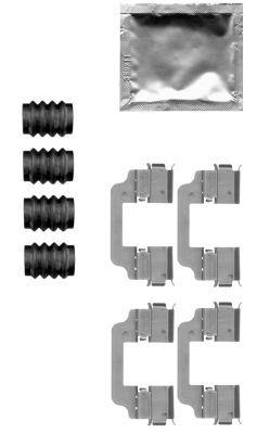 Tillbehörssats, skivbromsbelägg 8DZ 355 205-321 HELLA — bara nya delar