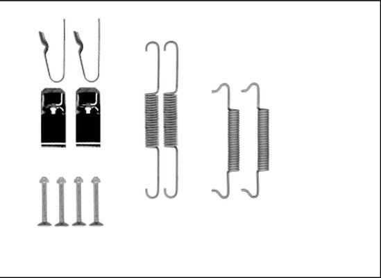 HELLA: Original Zubehörsatz Bremsbacken 8DZ 355 206-131 ()