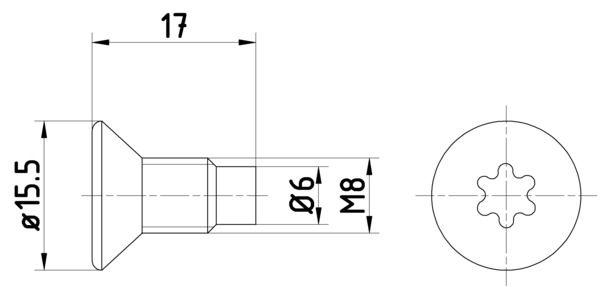 OE Original Schraube, Bremsscheibe 8DZ 355 209-041 HELLA