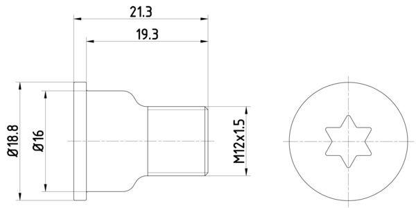 HELLA: Original Schraube, Bremsscheibe 8DZ 355 209-051 ()