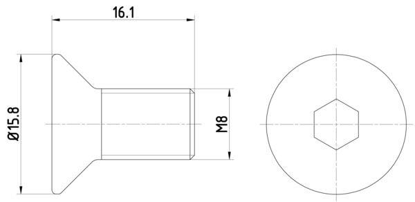 OE Original Schraube, Bremsscheibe 8DZ 355 209-061 HELLA