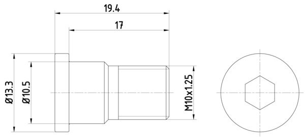 HELLA: Original Schraube, Bremsscheibe 8DZ 355 209-071 ()
