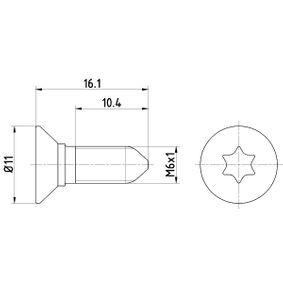 Comprar y reemplazar Tornillo, disco de freno HELLA 8DZ 355 209-081