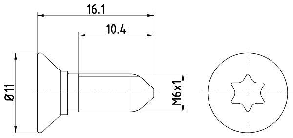 HELLA: Original Schraube, Bremsscheibe 8DZ 355 209-081 ()