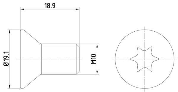HELLA: Original Schraube, Bremsscheibe 8DZ 355 209-101 ()