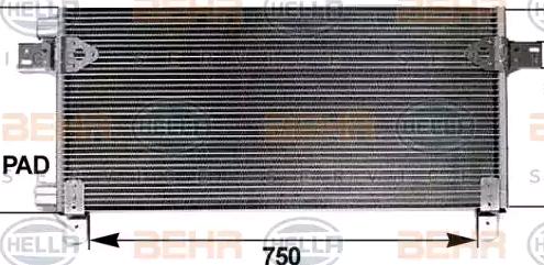 HELLA Kondensor, klimatanläggning 8FC 351 300-124 - köp med 20% rabatt