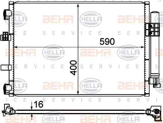 Original Airconditioning 8FC 351 344-554 Ford