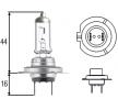 Fjärrljusglödlampa 8GH 007 157-551 HELLA — bara nya delar