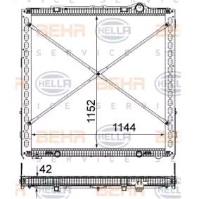 Kühler, Motorkühlung HELLA 8MK 376 903-041 mit 20% Rabatt kaufen