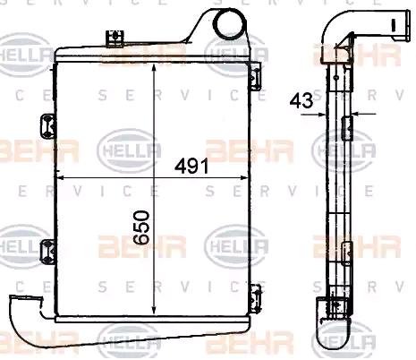 8ML 376 906-361 HELLA Ladeluftkühler für FAP online bestellen