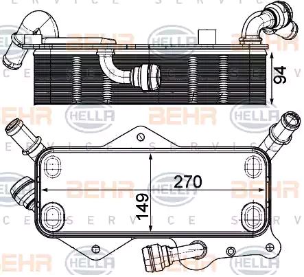 Getriebeölkühler HELLA 8MO 376 908-061