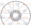 Lüfterrad, Motorkühlung 8MV 376 906-611 — aktuelle Top OE 51 06601 0258 Ersatzteile-Angebote